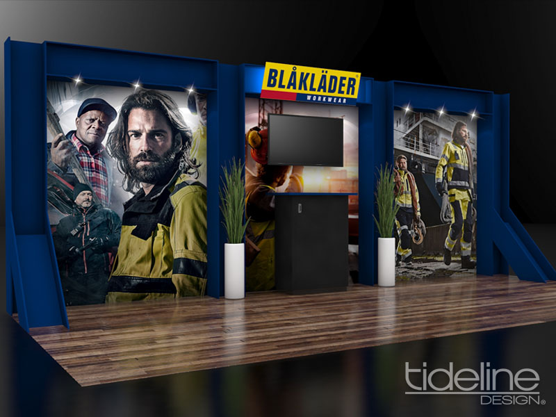 "Blaklader's ""Steel"" I-beam Trade Show Display"
