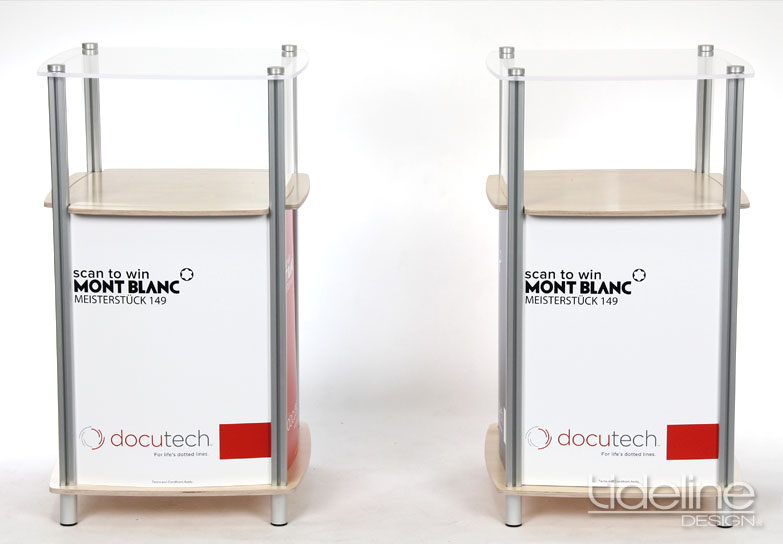 Docutech Square Display Case Counter