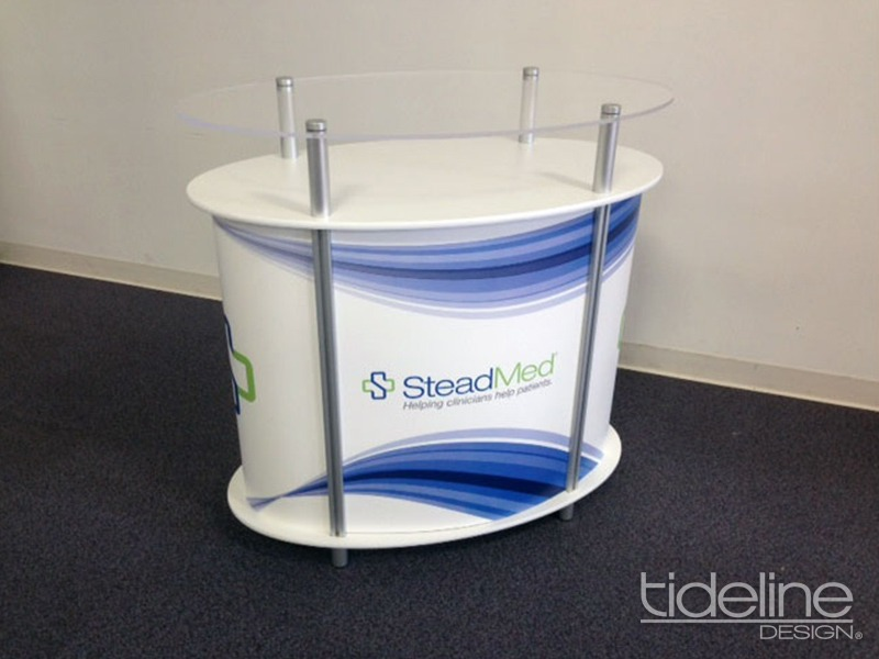 SteadMed Freestyle Oval Greeting Counter